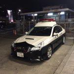 Policyjne Subaru Legacy B4.